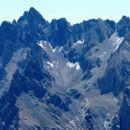 Aiguilles de Chambeyron (3412 m) et glaciers fossiles de Chauvet.