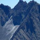 Pointe d'Aval ou de Chauvet (3325 m) et glaciers fossiles de Chauvet.