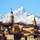Le Viso, depuis Saluzzo (Plaine du Pô, Province de Cuneo, Piémont)