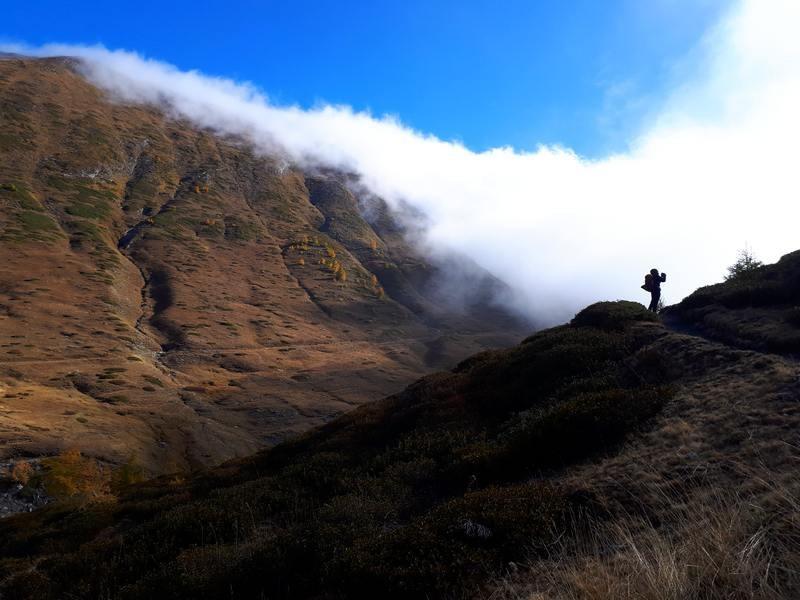 Nebia (Brouillard) entre la France et l'Italie (Col Lacroix)