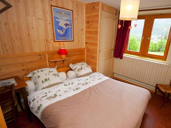 Exemple de Chambre double Hôtel de l'Auberge Camp de Base  (Non Contractuel) - Hors-Piste Free-Ride - Alpes du Sud