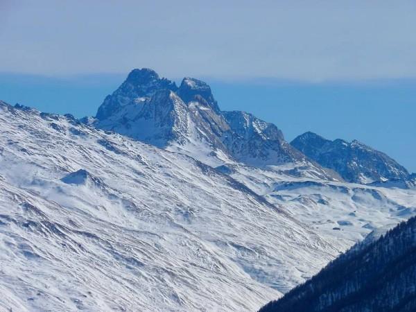 Panorama sur le Mont Viso depuis le Sommet Bucher - Raquettes en Queyras
