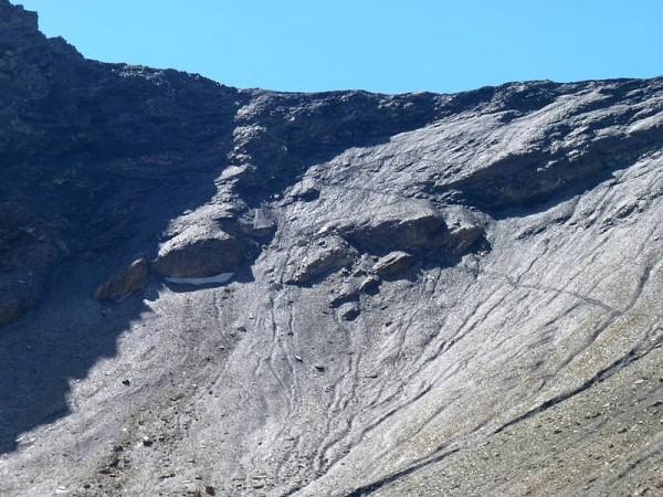 sentier de montée au Col de l'Aup Martin