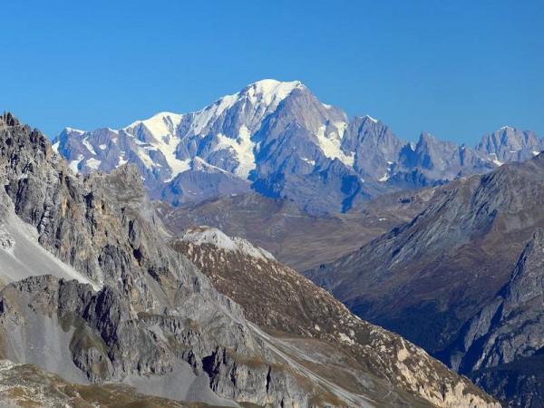 Mont-Blanc vu depuis le Col de Chavière - Vanoise