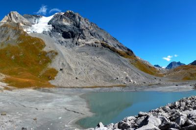 Lac des Vaches et Glacier de la Grande Casse