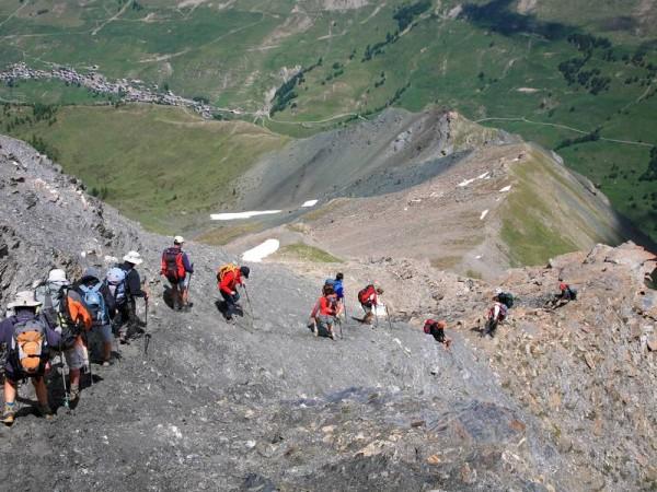 Descente de la Pointe des Marcelettes - Trek des 3000 du Queyras (GR58)