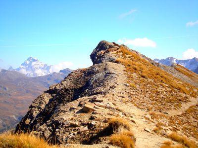 Pointe des Marcelettes et Viso au fond - Trek des 3000 du Queyras (GR58)