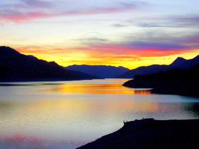 coucher de soleil depuis Savines