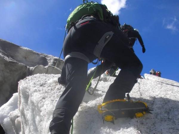 Marche sur glacier Blanc