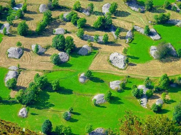 patchwork champestre au Desert en Valjouffrey