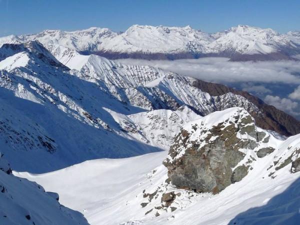 Panorama à 360° depuis Sommet de presque 3000 m - alpinisme hivernal
