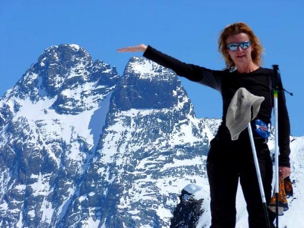 Le Viso depuis le Pic de Caramantran - ski de randonnée en Queyras