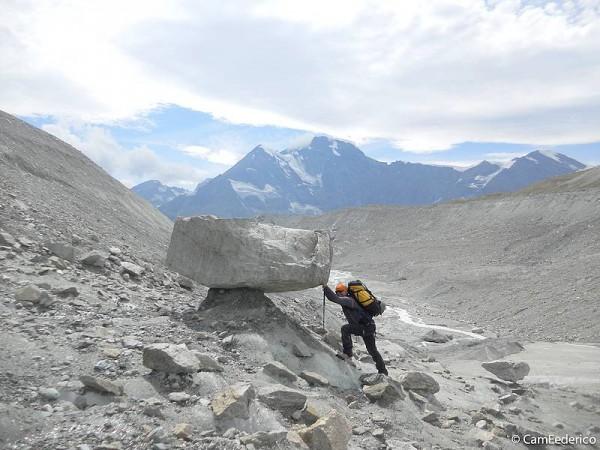 Haute-Route Valais-Aoste entre Italie et Suisse sur vastes glaciers