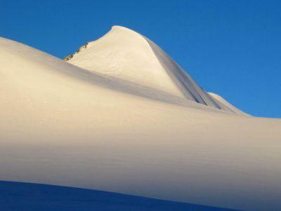 Glaciers sur la haute route Aoste Valais entre Italie et Suisse