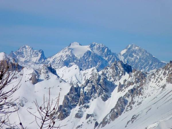 Panorama depuis Sommet Bucher - Tour Queyras Raquettes en Hôtel