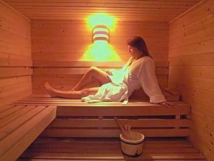 Sauna de l'hôtel - ski et spa en val d'Aoste