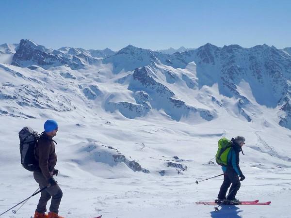 En Ubaye sur la GTA - grande traversée des alpes à ski