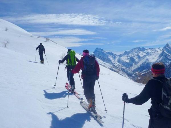 En Queyras sur la GTA - grande traversée des alpes à ski