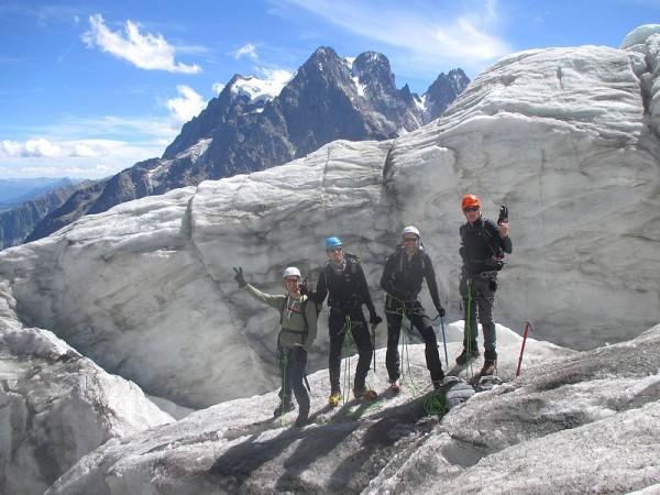 Première journée d'initiation randonnée sur glacier