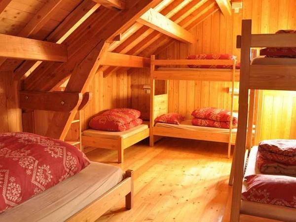 Exemple de dortoir (refuge de Laval - non contractuel)