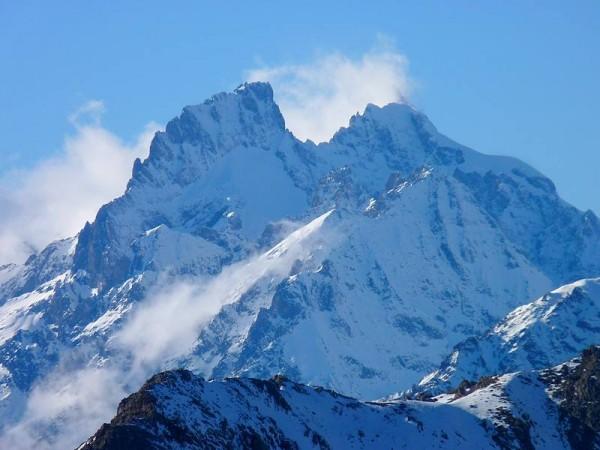 Panorama du la Meije depuis le Mont-Thabor (télé-objectif)