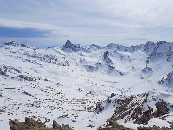 Cirque Glaciaire de la Blanche - refuges Queyras à ski de randonnnée
