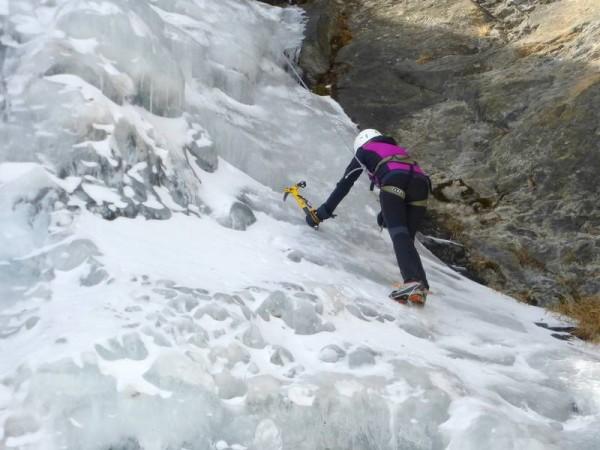 Cascade de Glace en Val Germanasca à Prali
