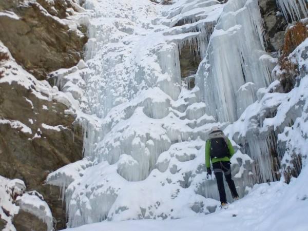 Cascade de Glace à Prali départ