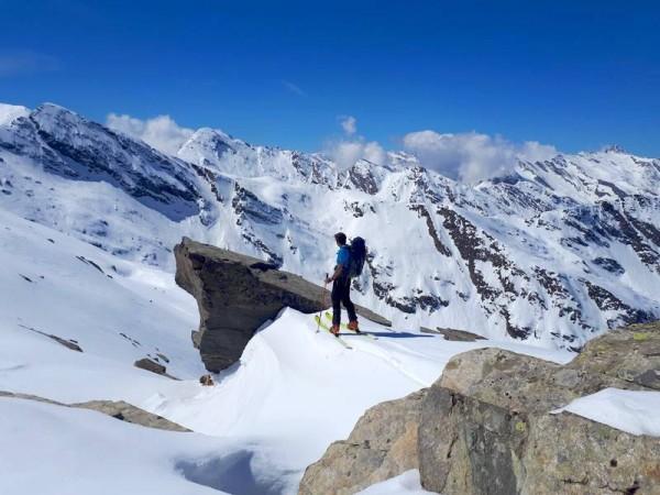 Ski de randonnée à Prali Piémont