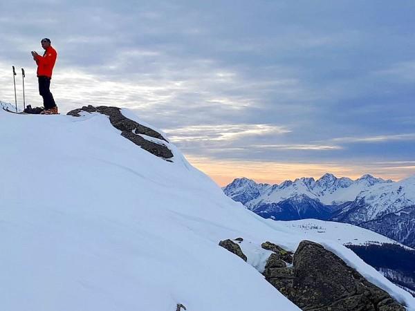 Coucher de soleil sur le Valchiavenna