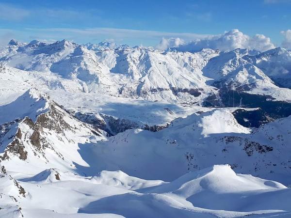 Vue panoramique sur le Haut Val Spluga