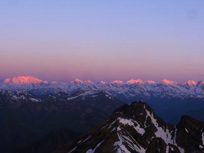 Panorama sur les Alpes depuis le refuge Mantova - Mt-Rose