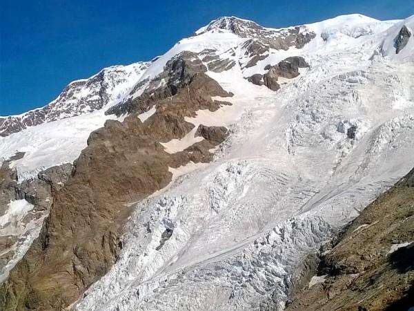 Langue du glacier du Lys - Massif du Mont-Rose