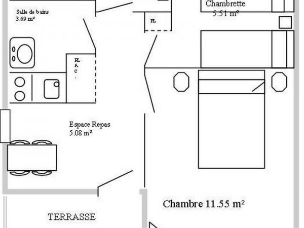 Plan du chalet (Non contractuel)