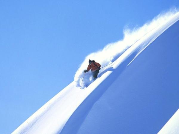 Belle descente en poudre - Ski de randonnée avec guide Haute Montagne - Ecrins - Queyras