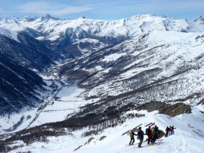 Sur la frontière Italienne Ski de randonnée avec guide Haute Montagne - Ecrins - Queyras