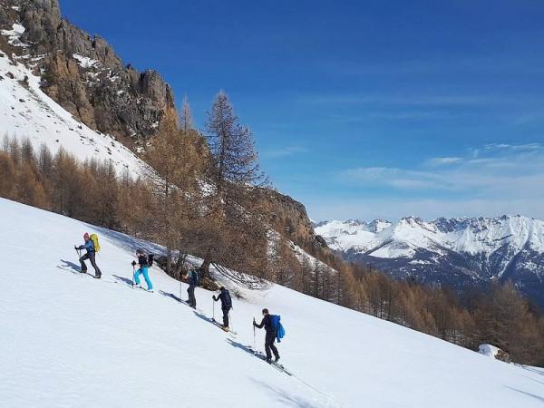 Montée vers la Tête de Vautisse - Ski de randonnée avec guide Haute Montagne - Ecrins - Queyras