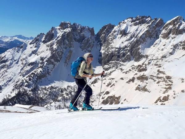 En Queyras vers Arvieux - Ski de randonnée avec guide Haute Montagne - Ecrins - Queyras