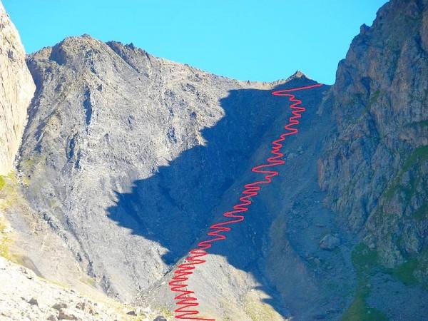 Sentier du col de la Muzelle - GR54 Tour Ecrins 4 jours