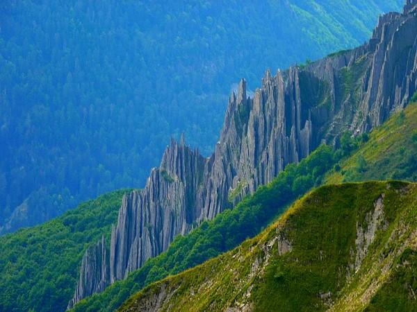 Orgues du Col de la Vaurze - GR54 Tour Ecrins 4 jours
