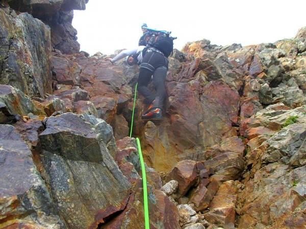 Escalade facile pour monter au Pic du Glacier d'Arsine