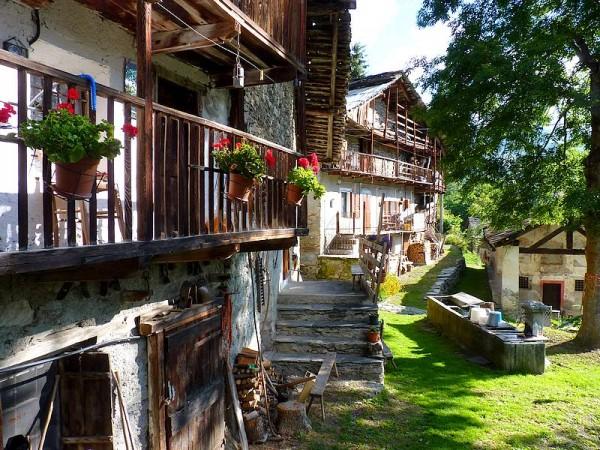 Village de Chiosso - Percorso Occitano (Sentier Occitan) en Val Maira