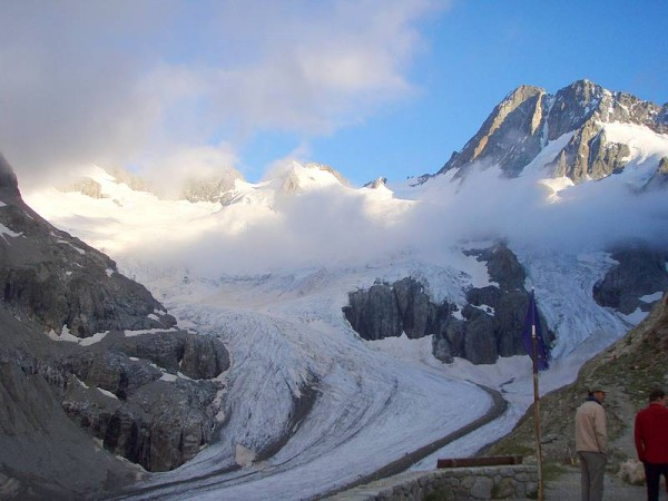 Glacier de la Pilatte vu depuis le refuge homonyme