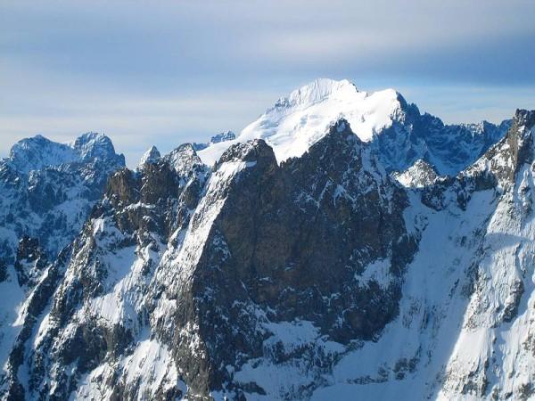 Barre des Ecrins (4103 m) - Vue depuis Col du Pavé - Tour de la Meije