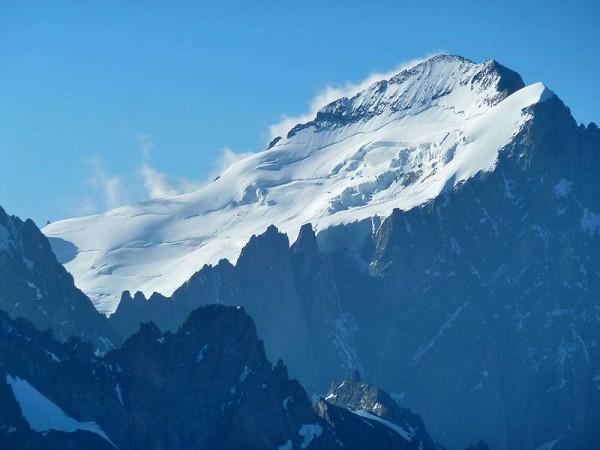Barre des Ecrins (4103 m) - Vue depuis Tête du Replat - Tour de la Meije
