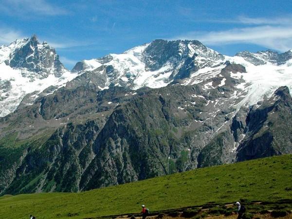 Grand Pic à gauche et Glacier de la Girose à droite - Tour de la Meije