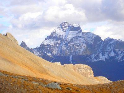 Le Mont-Viso (3841 m) vu depuis le Pic de Caramantran
