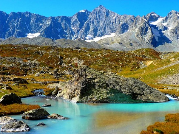Lac du Glacier d'Arsine - Tour des Ecrins GR54 en Gîtes et refuges en 6 jours