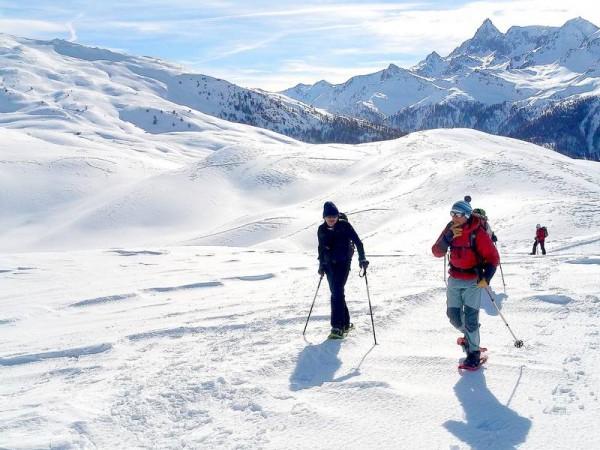 Vers le Col de Bousson à la frontière avec le Piémont Italien