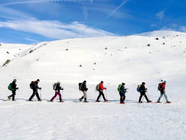 Montée au Col de Bousson à la frontière avec le Piémont Italien